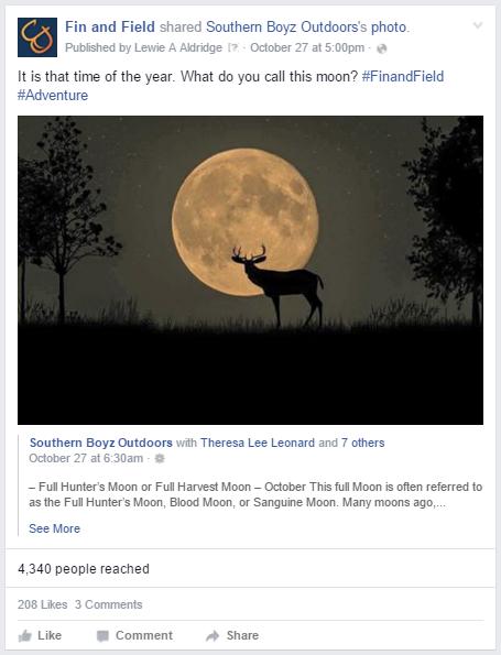FB - moon post