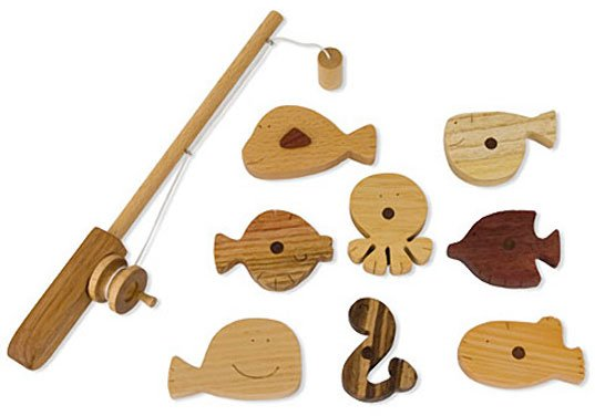 Wooden fishing toy for kids to get inspired about fishing