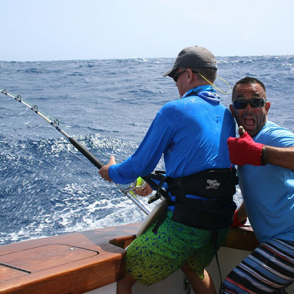 Fly Navarro fishing offshore