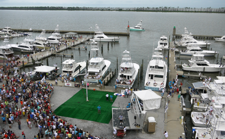 Dock party at the mississippi gulf coast billfish classic