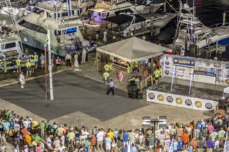 Mississippi Gulf Coast Billfish Classic weigh in and dock party with spectators and captains and crews