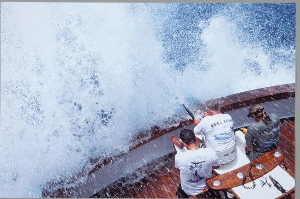 FLy fishing with Jim Lambert on the Reel Tight for Blue Marlin