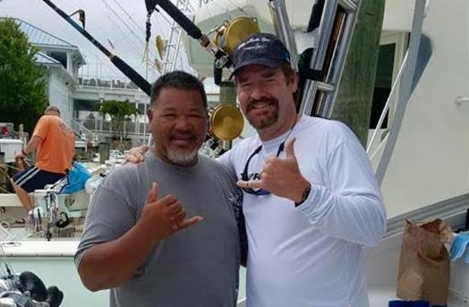 Bomboy Llanes and Wade Bogs at the White Marlin Open in Ocean City Maryland