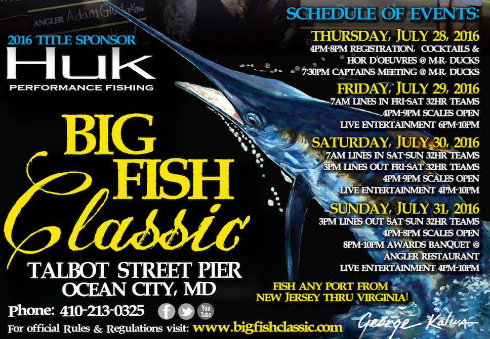 Big Fish Classic logo and schedule