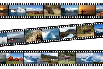Newfoundland Canada Landscapes Collage Film Strip Photos