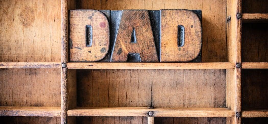 Dad Concept Wooden Letterpress Theme