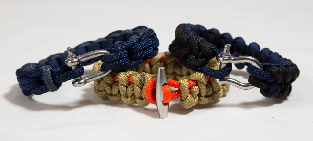 Paracord security bracelets that can be carried on during air travel