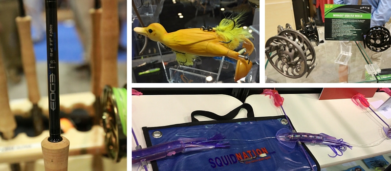 new products at icast 2016 including rods reels lures coolers etc...