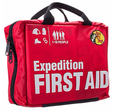 Expedition first aid kit for wilderness and outdoors