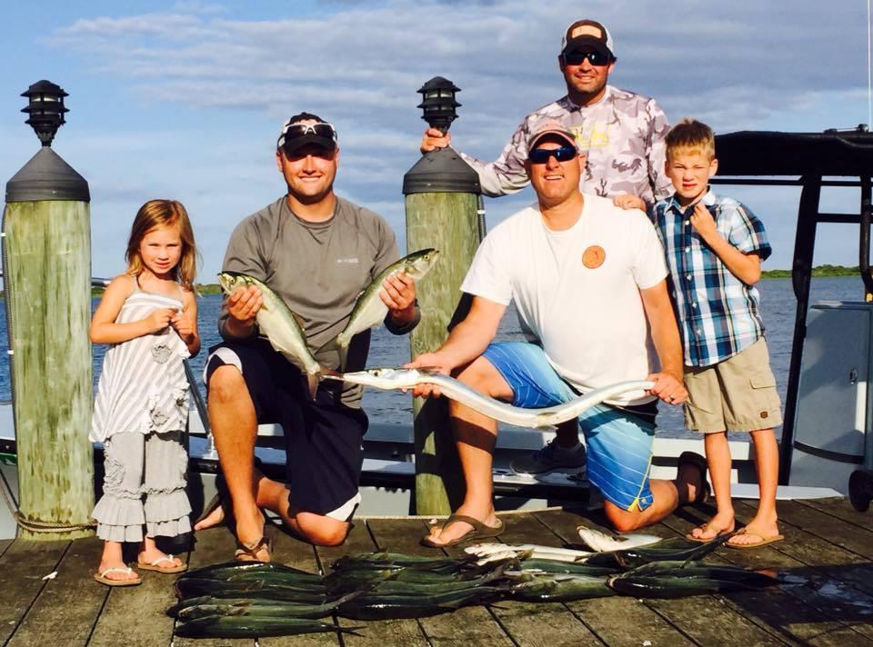 family fishing on an atlantic charter boat