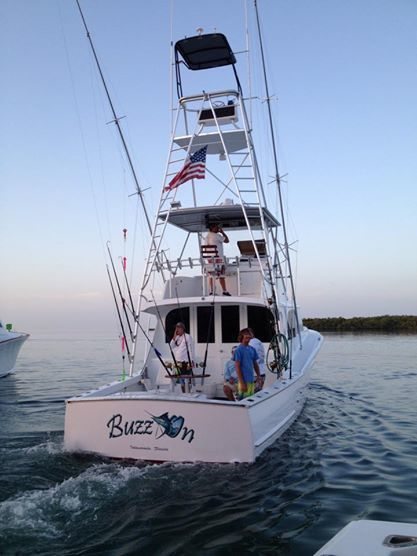 captain aaron brower's boat the buzz on in islamorada florida