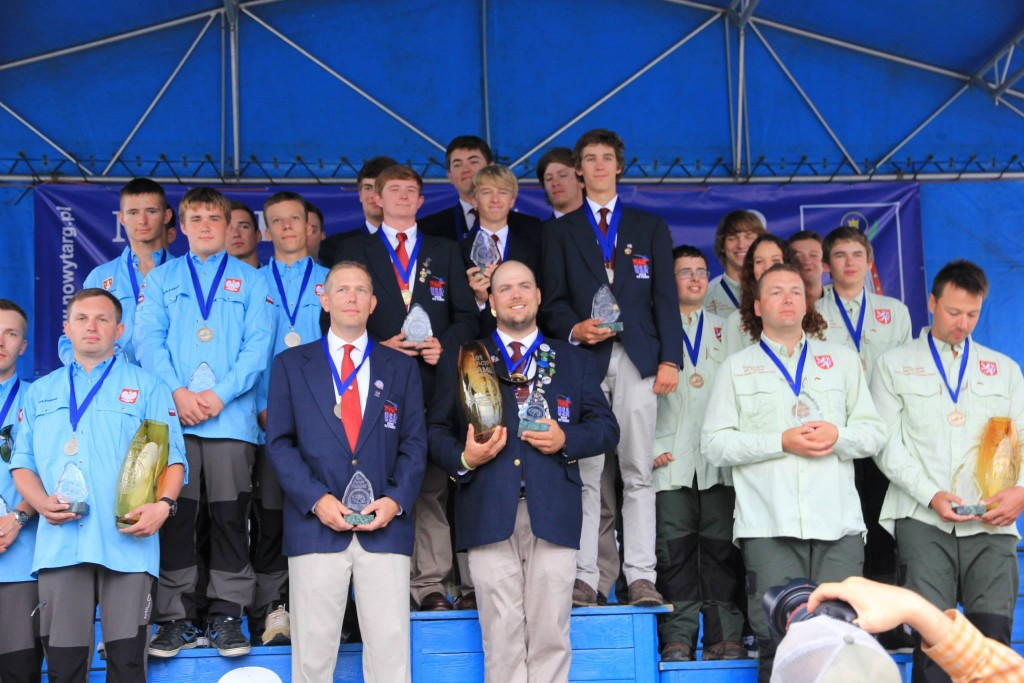 paul bourcq with the gold medal winning youth team