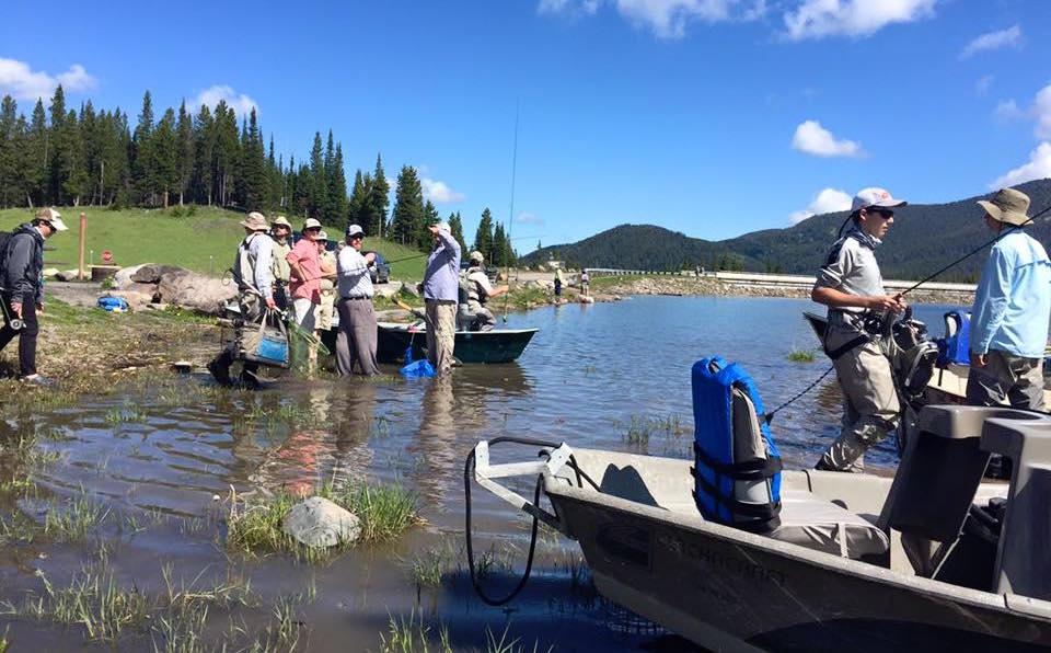 paul bourcq fishing with the youth fly fishing team