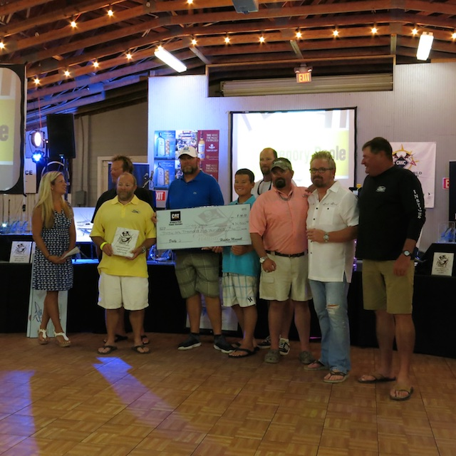 One of the winning teams at the pirate's cove billfish tournament