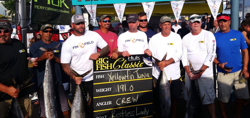 restless lady weighing in a stringer at the big fish classic in ocean city maryland