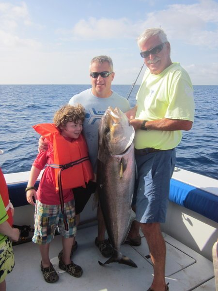 nice amberjack caught by rich adler on the tuna wahoo in south florida