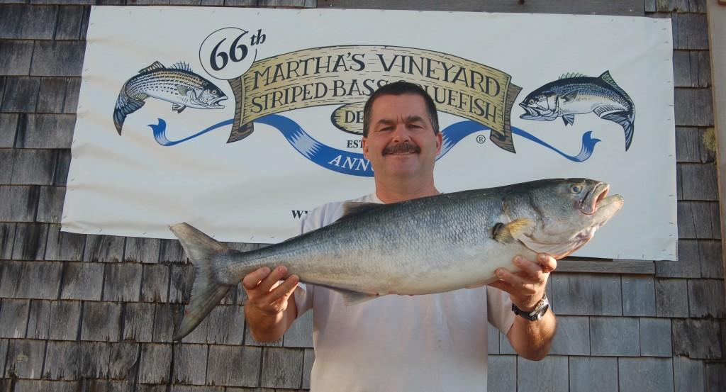 66th annual Martha's Vineyard fishing derby winning bluefish