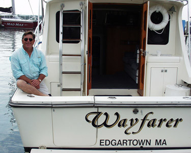 captain ed jerome will take you out on wayfarer charters for some Martha's vineyard fishing fun