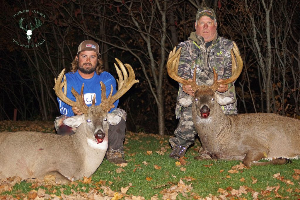 kyle and mike peet hunting at three lakes trophy ranch