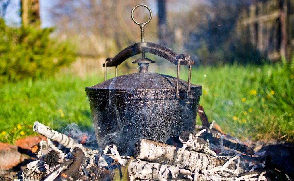 Chose the right technique for campfire cooking