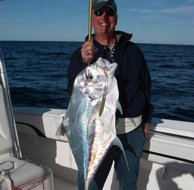 Compass Rose Charters with a nice african pompano