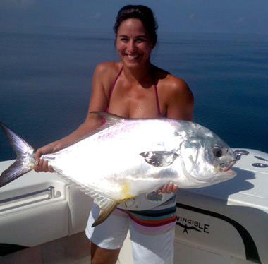 Compass Rose Charters with a nice permit