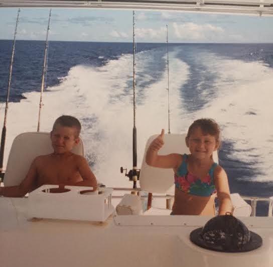 Breelan Angel fishing as a kid