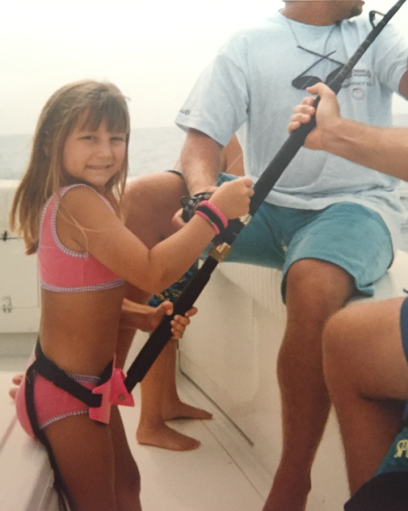 Breelan Angel fishing when she was 12