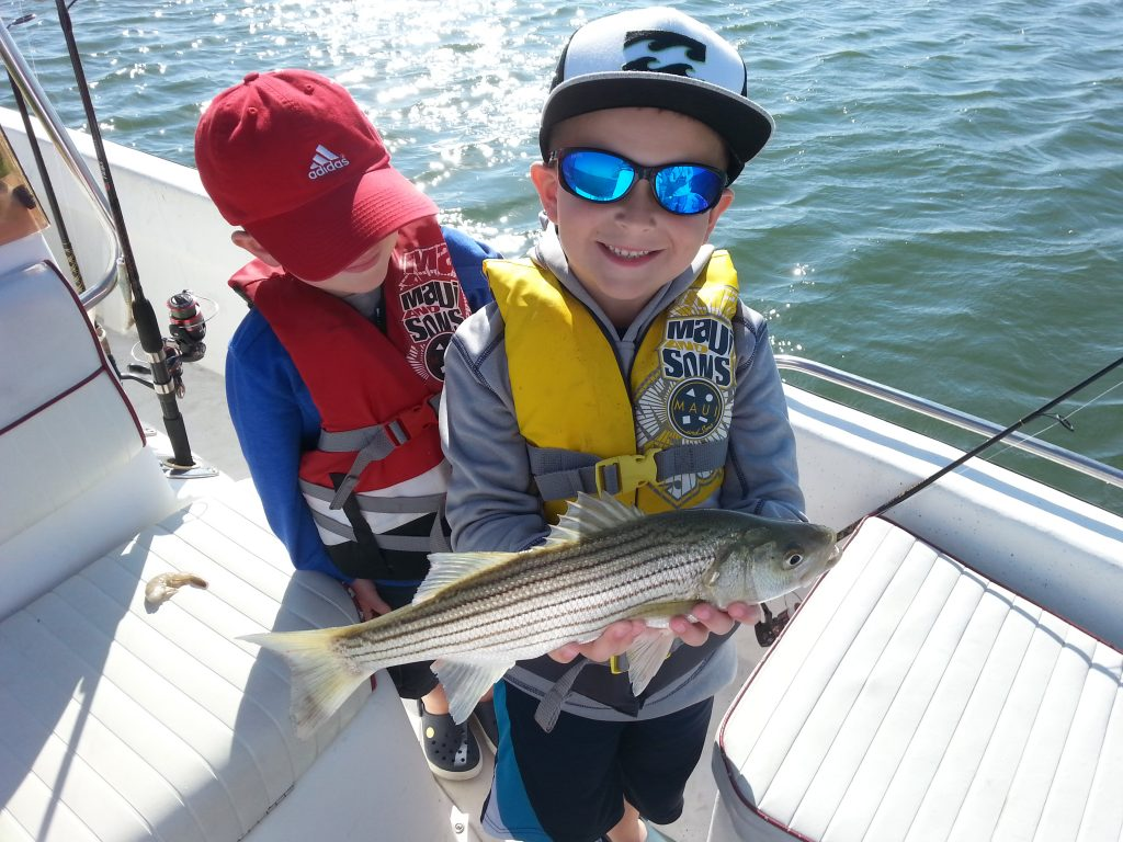 Kids Love Striper Fishing