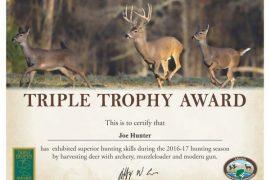 Triple Trophy Award Available to Arkansas Deer Hunters