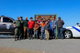 AGFC, State Troopers Team Up with Boy Scouts at Bayou Meto WMA