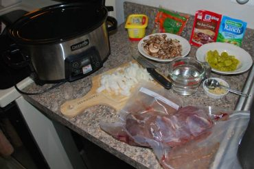 Tangy Crockpot Venison Roast