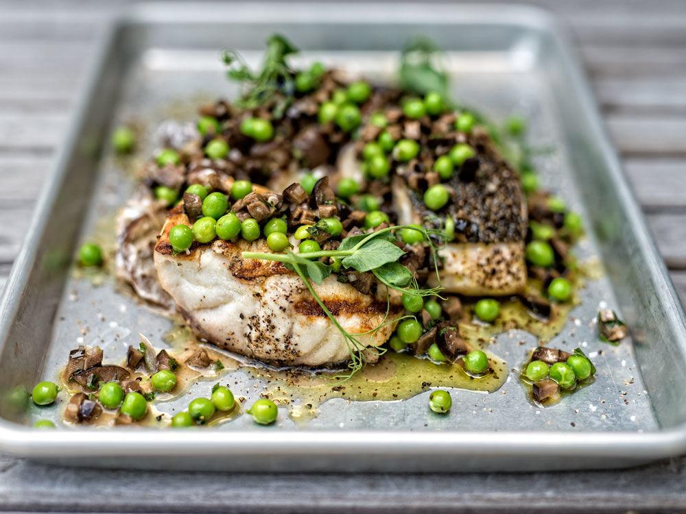 Striped Bass and Foil Eggplant Recipe