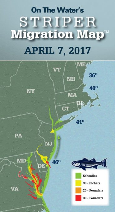 Striper Migration Map – April 7, 2017