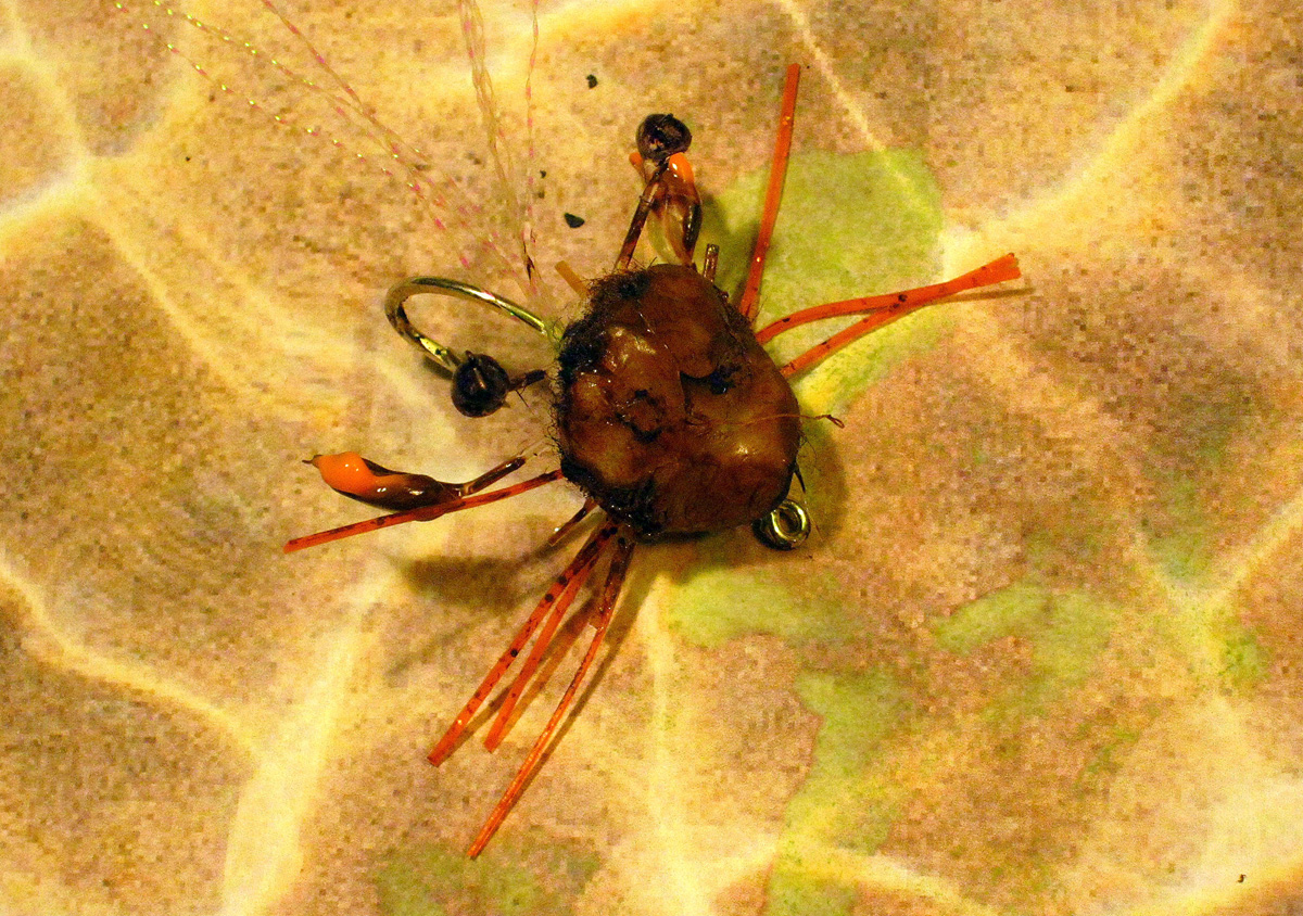 Tying A Crab Fly With Common Household Items Fin And
