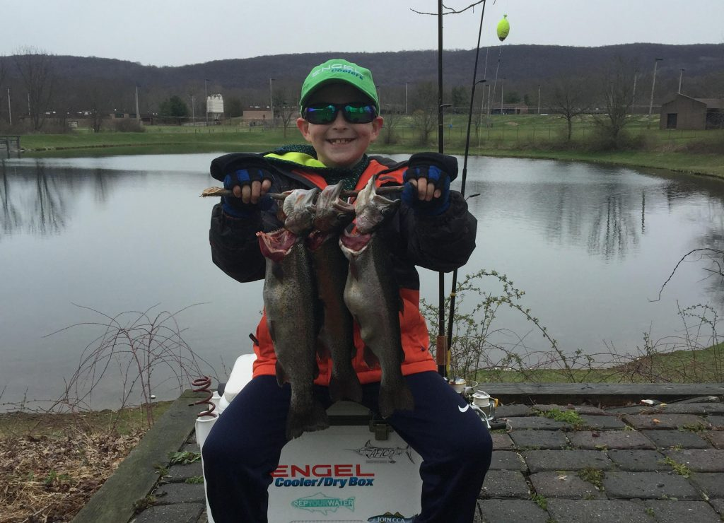 fishing for stocked trout is a great way to get kids into fishing