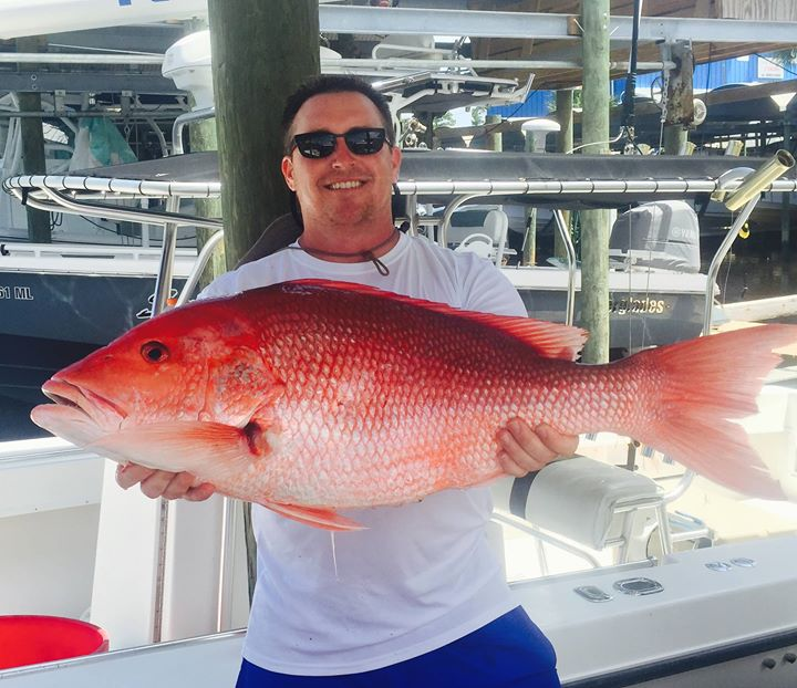 Snapper fishing on Louisiana Tuna Charters