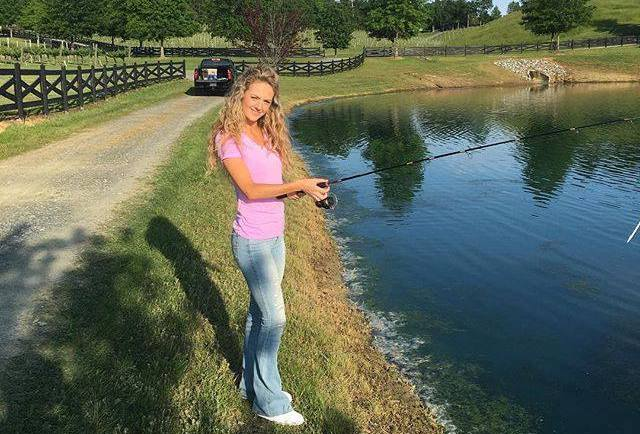 Ty's wife Haley doing some fishing