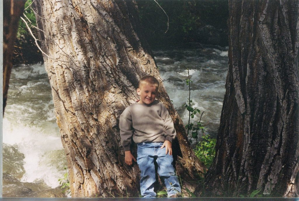 Young Ty Dillon Enjoying the Great Outdoors