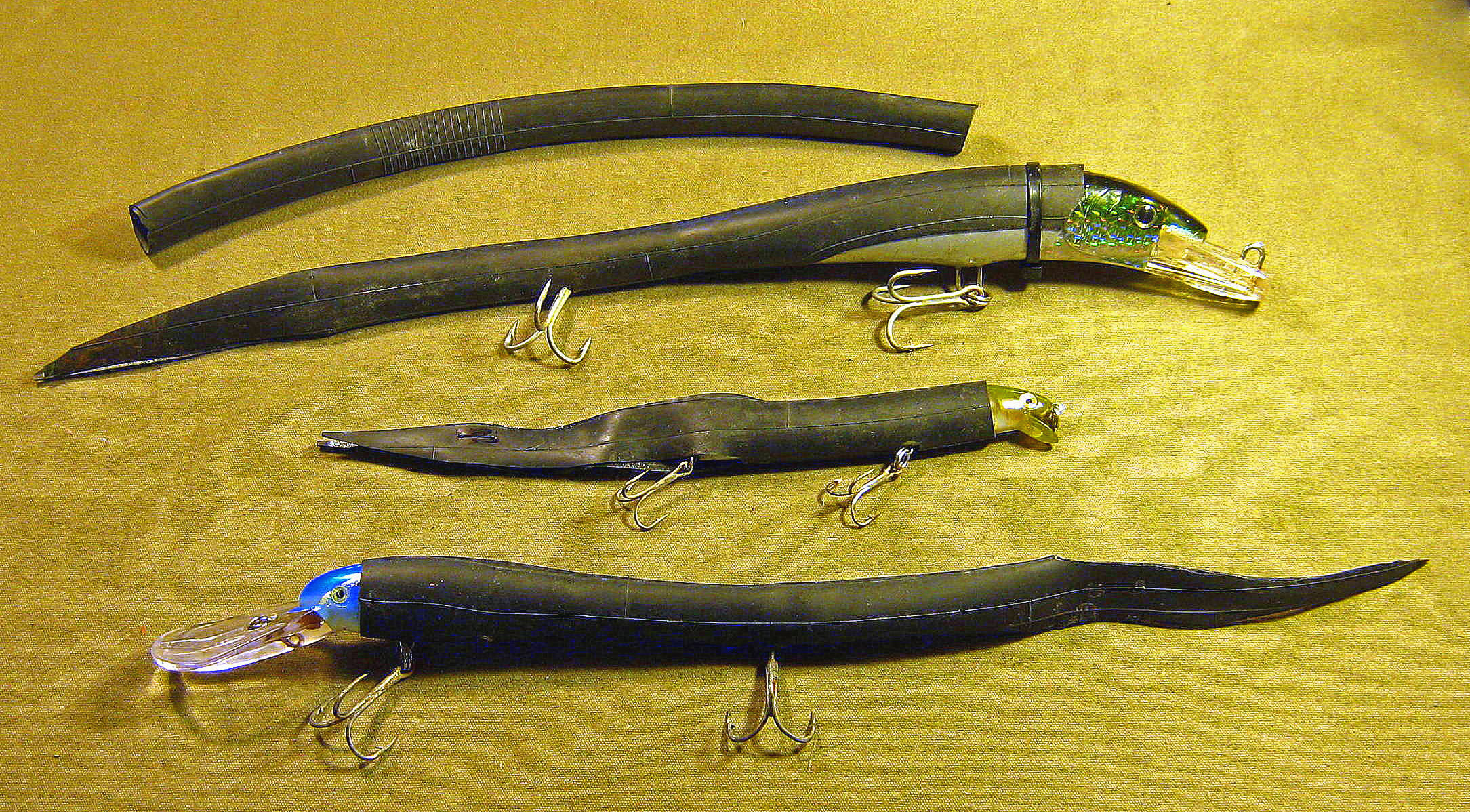 Converting plugs to home made eel lures fin and field blog for Fishing tube baits