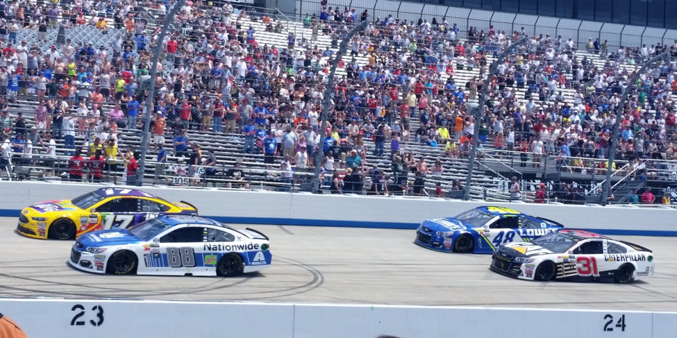 First lap at the Monster Mile