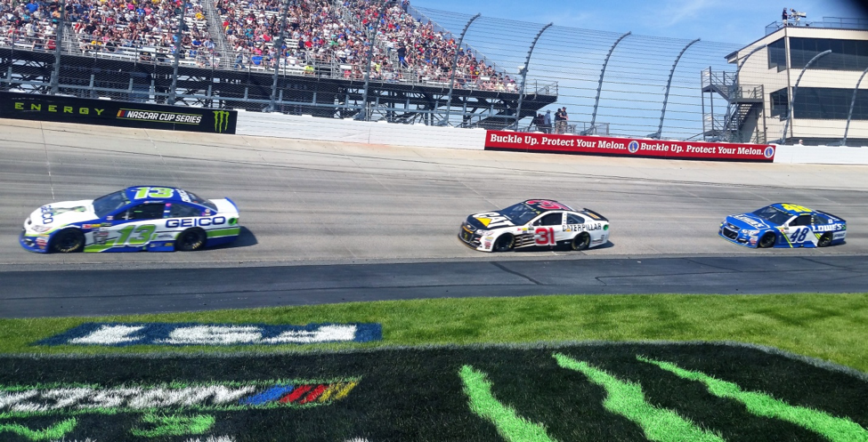 Ty leading at the Monster Mile