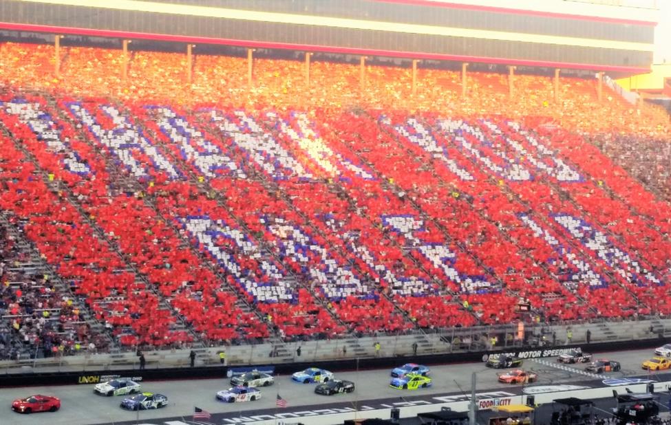 Dale Earnhardt Jr. Tribute at Bristol Motor Speedway