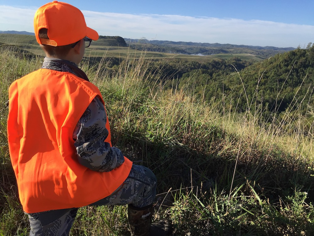 Ryley setting out on his first elk hunt