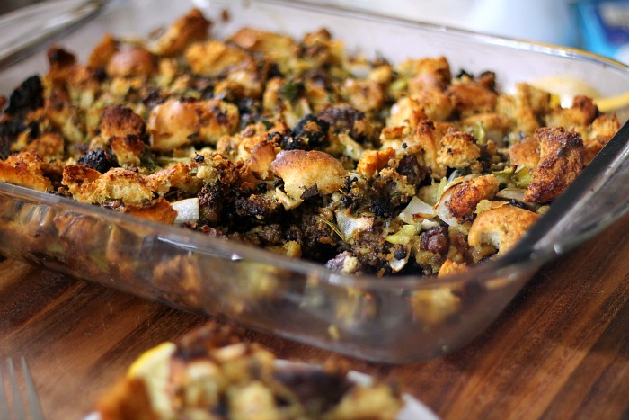 Wild Oyster Thanksgiving Stuffing